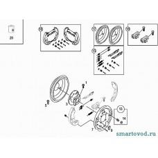 Ремкомплект механизма задних барабанных колодок Smart ForTwo / Roadster