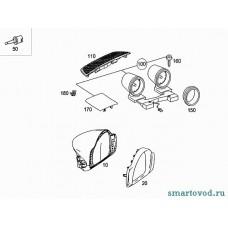Дополнительные приборы передней панели (рожки) Smart 451 ForTwo 2007 - 2010