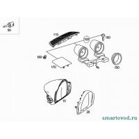 Декоратиные кольца приборов передней панели Smart ForTwo 2007->