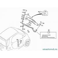 Форсунка стеклоомывателя переднего Smart ForTwo 98-00