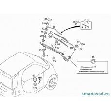 Крышка / колпачек / заглушка болта поводка стеклоочистителя правая Smart 450 ForTwo 1998 - 2007