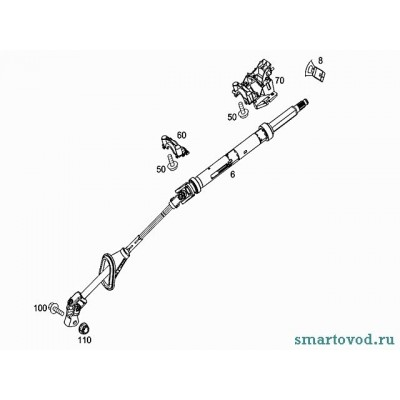 Крестовина рулевого вала Smart ForTwo 98-07