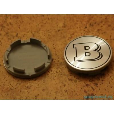 Колпачок / заглушка диска легкосплавного Smart Brabus 450 / 451 / 454 1998-2014 (серебро глянец)