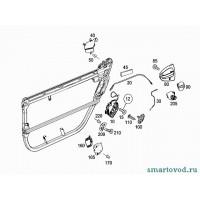 Заглушка личинки замка двери smart ForTwo 2007 ->