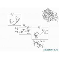 Трубка длинная подачи антифриза в турбину Smart ForTwo / Roadster 98-07