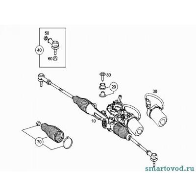 Наконечник рулевой тяги Smart ForTwo 2007->
