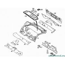 Замок / Крепеж крышки двигателя Smart ForTwo / Roadster 98-07->