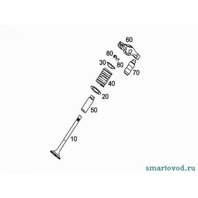Чашка верхняя пружины клапана Smart ForTwo бензин / Roadster 98-07