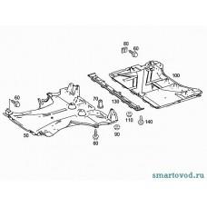 Защита днища задняя / пыльник пластиковый Smart 451 ForTwo 2007 - 2014 (оригинал)