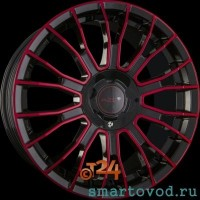 Диск легкосплавный  AZEV TYPE Y COLORLINE RED 8x18 ET12- 50 3x112 SMART F0RTWO