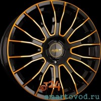 Диск легкосплавный  AZEV TYPE Y COLORLINE GOLD 8x18 ET12- 50 3x112 SMART F0RTWO