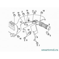 Патрубок впускной воздуха Smart ForTwo / Roadster 98-07