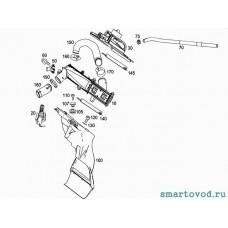 Уплотнитель нижний силиконовый интеркулера Smart ForTwo / Roadster