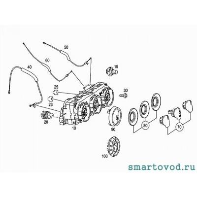 Декоративное кольцо ручки управления климатом Smart ForFour
